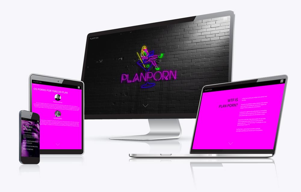 Site Plan Porn em vários dispositivos, desktop,notebook, tablet e celular