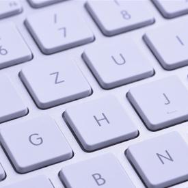 Foto de um teclado de computador